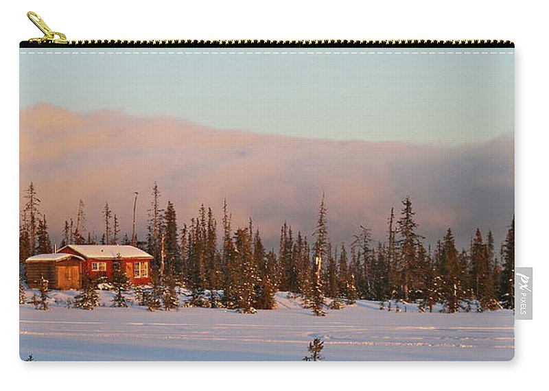 Cabin Carry-all Pouch featuring the photograph Off The Beaten Path by Rick Monyahan
