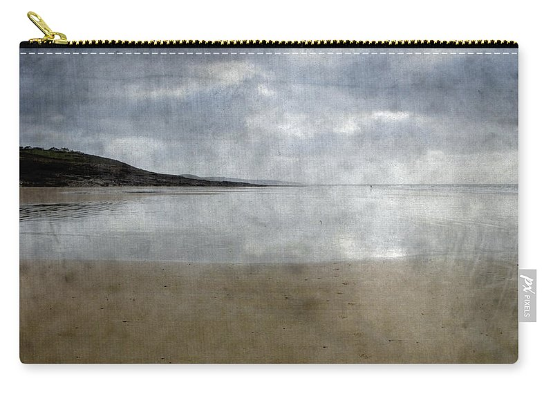 Beach Carry-all Pouch featuring the photograph Ogmore Beach by Kevin Round