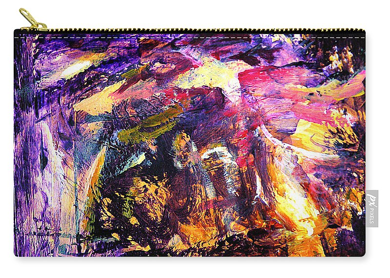 Abstract Carry-all Pouch featuring the painting Oh Holy Night by Julianne Felton