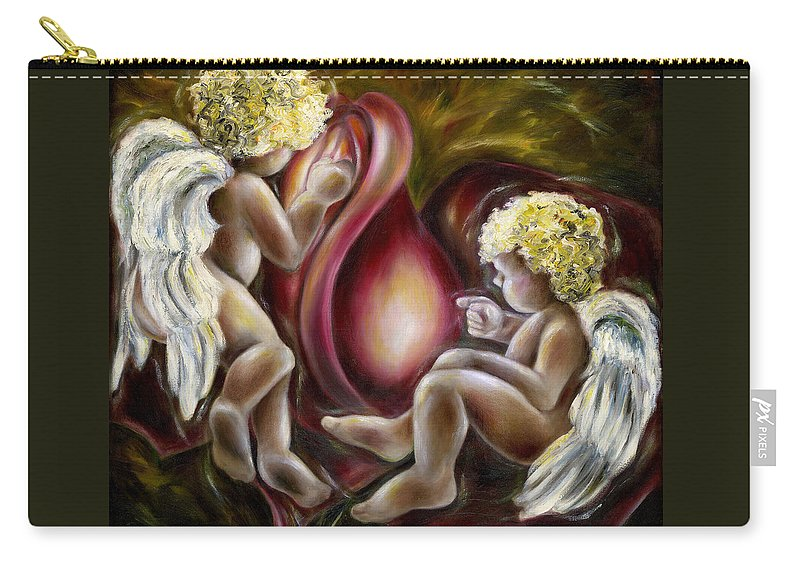 Angel Carry-all Pouch featuring the painting Oh I Thought This Was A Cabbage. by Hiroko Sakai