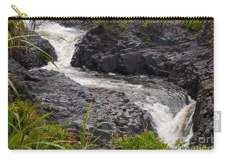 Ohe'o Gulch Haleakala National Park Seven Sacred Pools Area Maui Hawaii Waterfall Waterfalls Plant Plants Water Landscape Landscapes Waterscape Waterscapes Nature Volcanic Rock Carry-all Pouch featuring the photograph Ohe'o Gulch by Bob Phillips