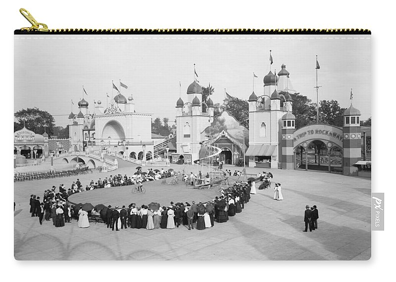 1905 Carry-all Pouch featuring the photograph Ohio Circus, C1905 by Granger