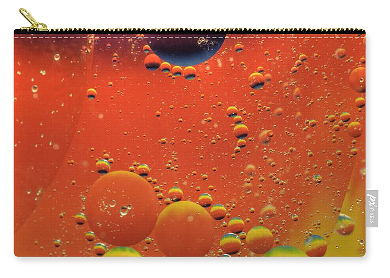 Abstract Carry-all Pouch featuring the photograph Oil And Water by Anthony Sacco