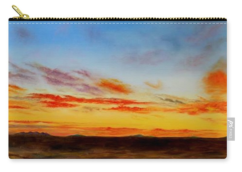 Roena King Carry-all Pouch featuring the painting Oil Painting - When The Clouds Turn Red by Roena King