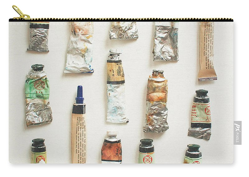 Oil Paints Carry-all Pouch featuring the photograph Oils by Cassia Beck