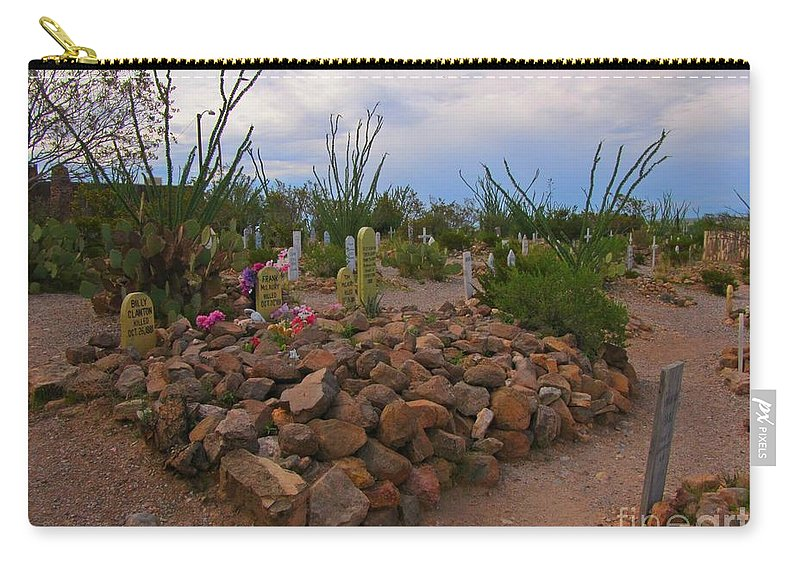 Ok Corral Gunfighter Graves Carry-all Pouch featuring the photograph Ok Corral Gunfighter Graves by John Malone