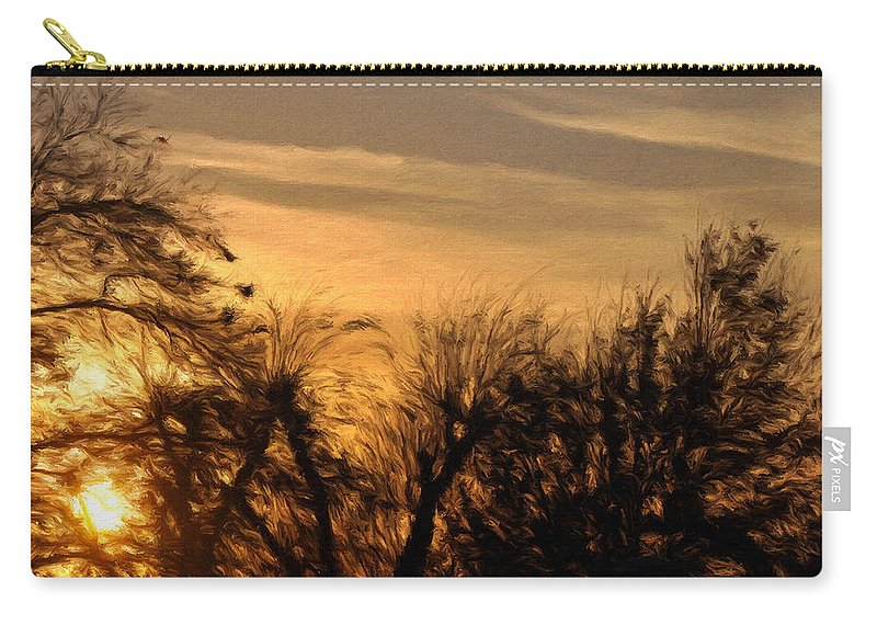 Cloud Carry-all Pouch featuring the painting Oklahoma Sunset by Jeffrey Kolker