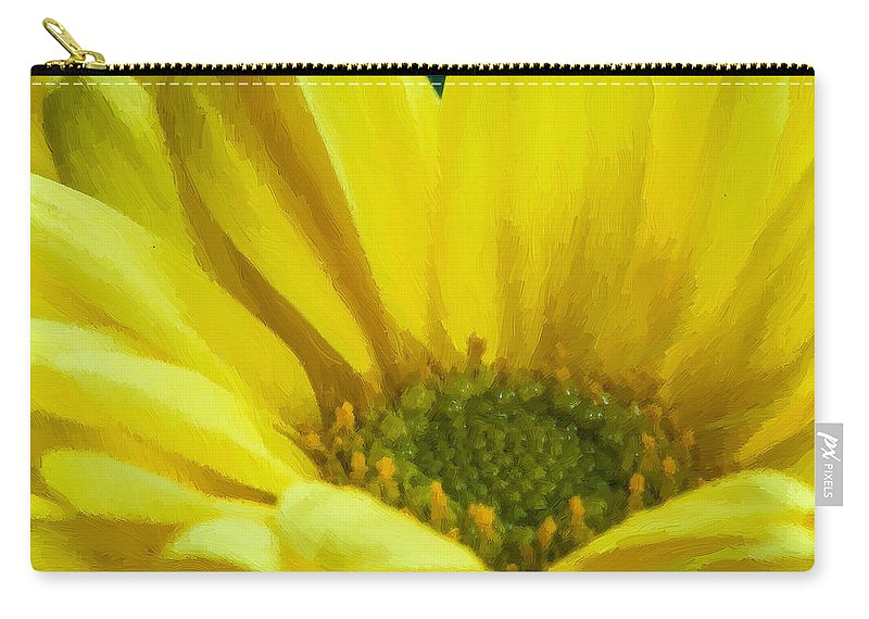 Yellow Carry-all Pouch featuring the photograph Ol' Yeller by Randy Walton