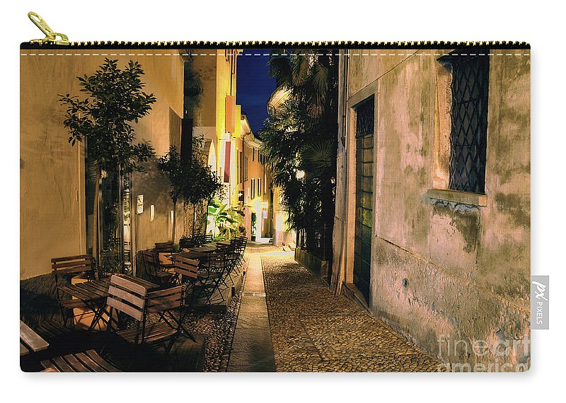 Alley Carry-all Pouch featuring the photograph Old Alley At Night by Mats Silvan