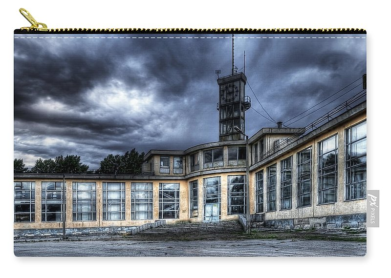 Hdr Carry-all Pouch featuring the photograph Old And Rusty Building by Svetlana Sewell