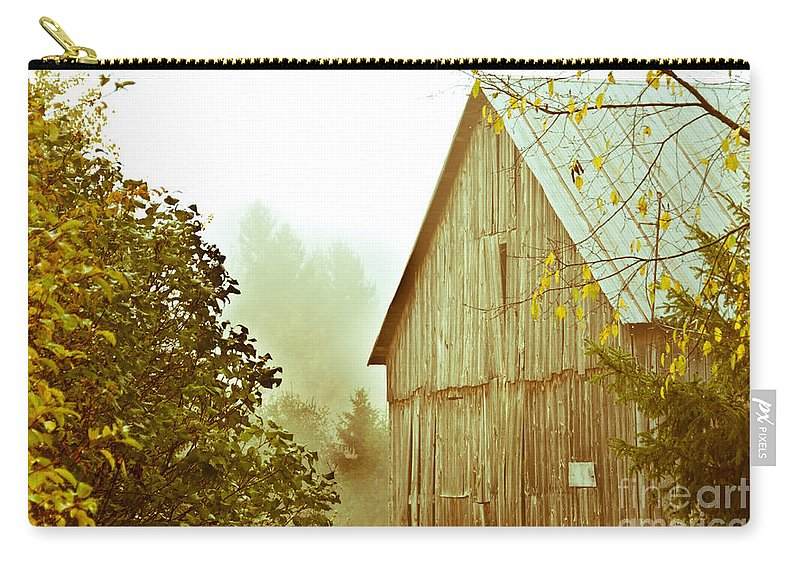 Rustic Carry-all Pouch featuring the photograph Old Barn by Cheryl Baxter