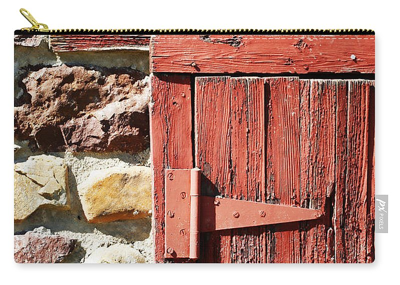 Barn Carry-all Pouch featuring the photograph Old Barn Hinge by Marilyn Hunt