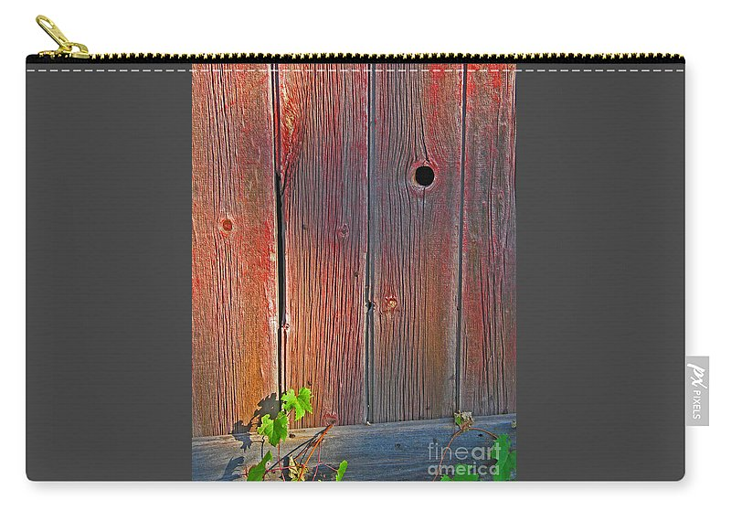 Barn Carry-all Pouch featuring the photograph Old Barn Wood by Ann Horn