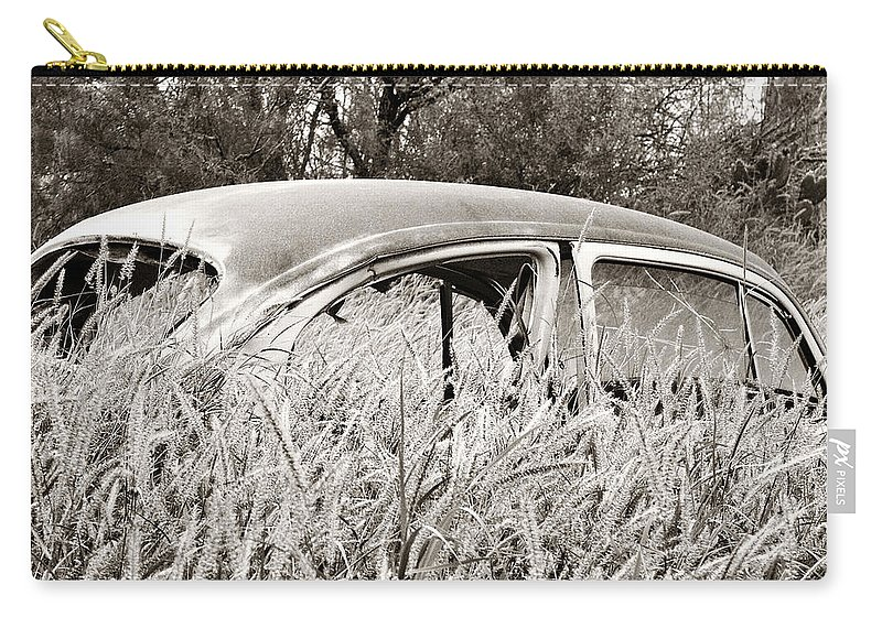 Old Carry-all Pouch featuring the photograph Old Beetle by Marilyn Hunt