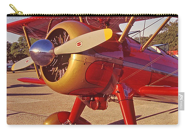 Airplanes Carry-all Pouch featuring the photograph Old Biplane I I I by Jim Smith