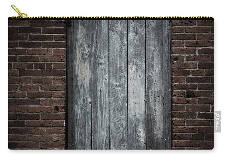 Door Carry-all Pouch featuring the photograph Old Blacksmith Shop Door by Edward Fielding
