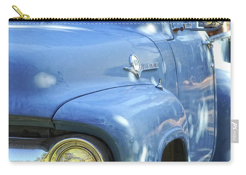 Ford Carry-all Pouch featuring the photograph Old Blue by Donna Blackhall