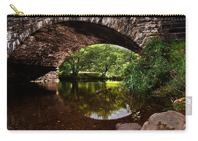 Old Bridge Carry-all Pouch featuring the photograph Old Bridge by Beverly Cash