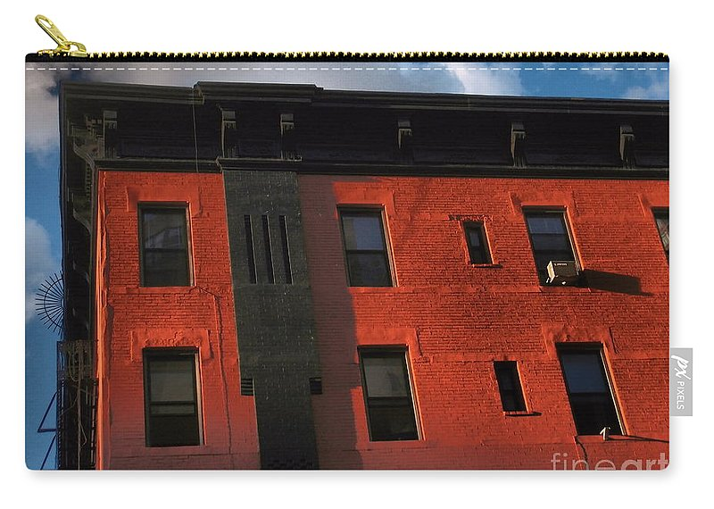 Old Buildings Of New York City Carry-all Pouch featuring the photograph Brownstone 1 - Old Buildings And Architecture Of New York City by Miriam Danar
