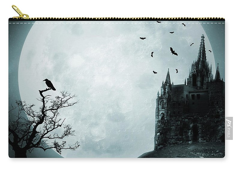Gothic Style Carry-all Pouch featuring the photograph Old Castle by Vladgans