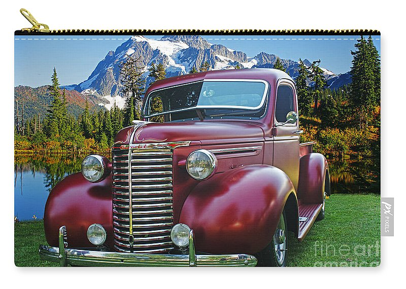 Cars Carry-all Pouch featuring the photograph Old Chevy Pickup Ca5073-14 by Randy Harris