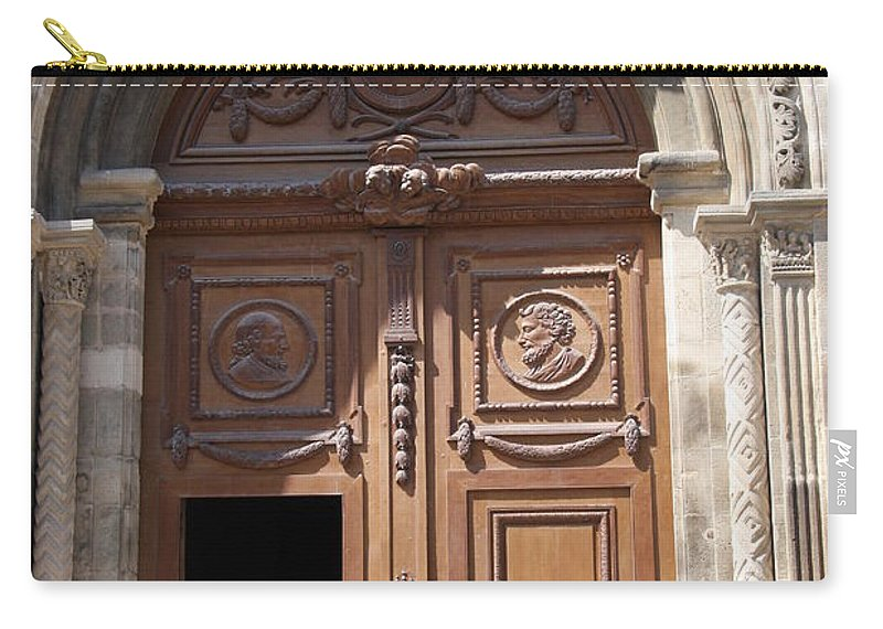 Door Carry-all Pouch featuring the photograph Old Church Door Cathedral Autun by Christiane Schulze Art And Photography