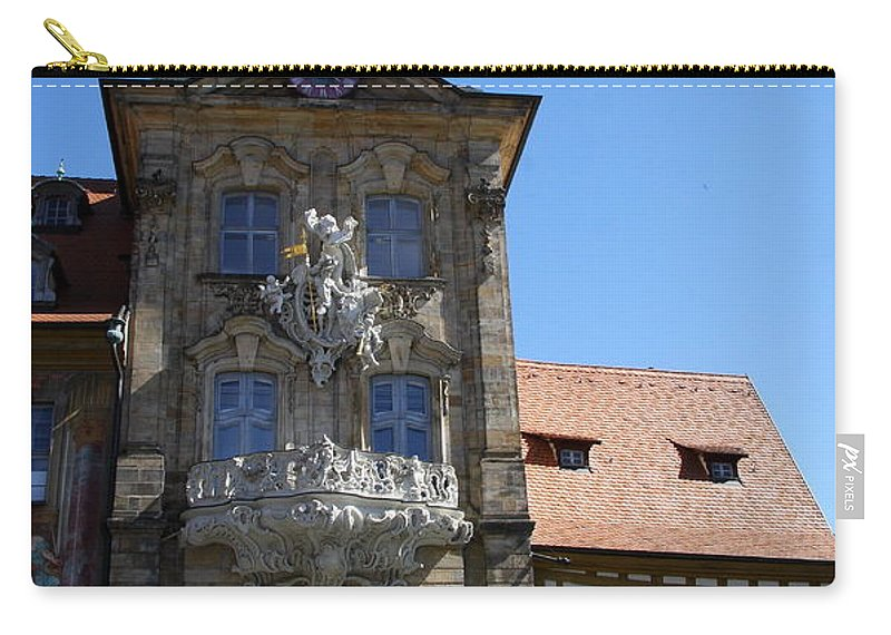 Baroque Gate Carry-all Pouch featuring the photograph Old City Hall - Bamberg by Christiane Schulze Art And Photography