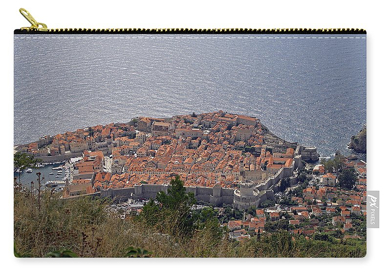 Old City Of Dubrovnik Carry-all Pouch featuring the photograph Old City Of Dubrovnik by Tony Murtagh