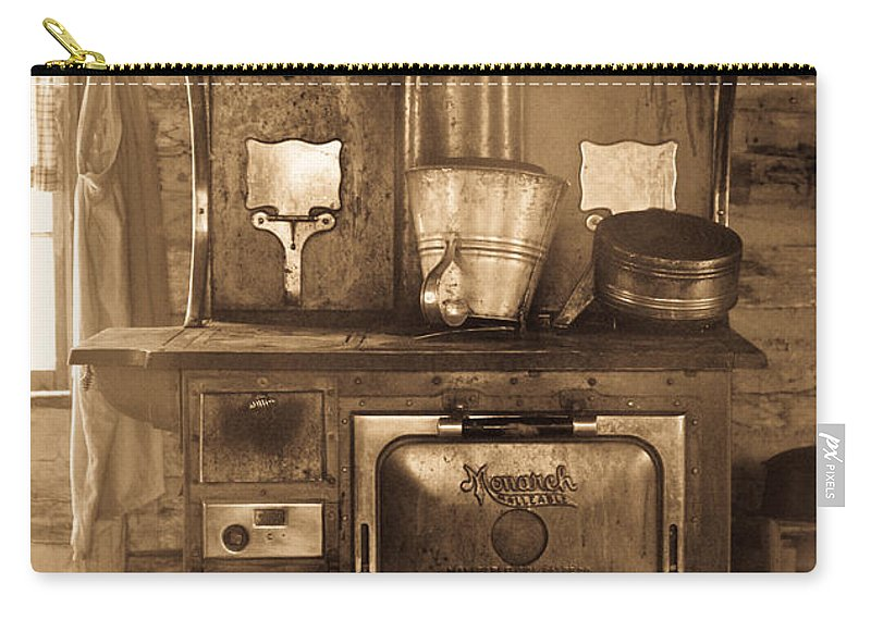 Stove Carry-all Pouch featuring the photograph Old Country Stove by Athena Mckinzie