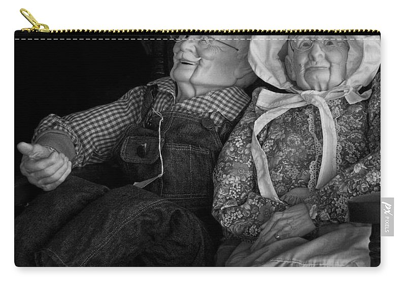 Art Carry-all Pouch featuring the photograph Old Couple Mannequins In Shop Window Display by Randall Nyhof