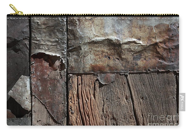 Door Carry-all Pouch featuring the photograph Old Door Textures by James Brunker