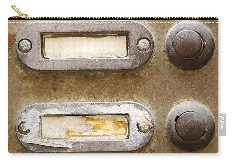 Topic Carry-all Pouch featuring the photograph Old Doorbells by Michal Boubin