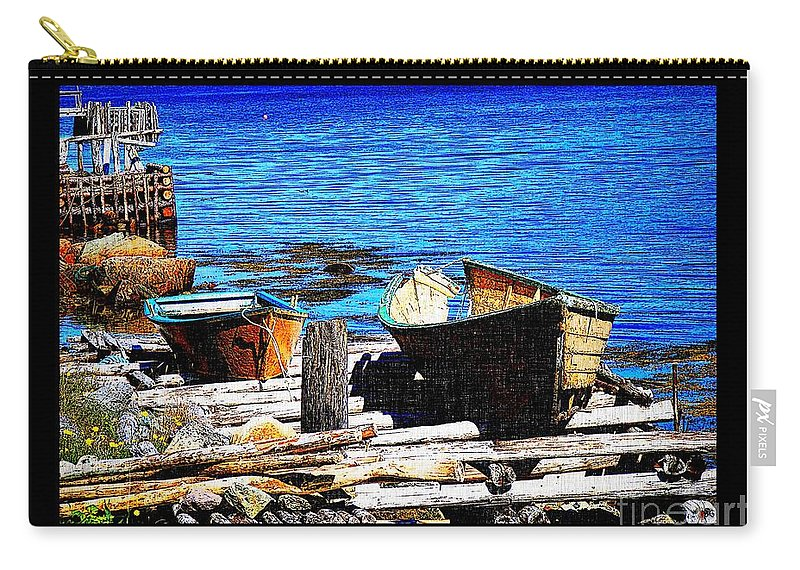 Old Dory New Punt Carry-all Pouch featuring the photograph Old Dory New Punt by Barbara Griffin