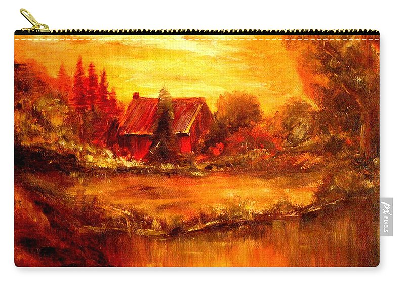 Barn Carry-all Pouch featuring the painting Old Dutch Farm by Jeff Troeltzsch