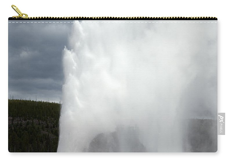 Wyoming Carry-all Pouch featuring the photograph Old Faithful by Scott Sanders