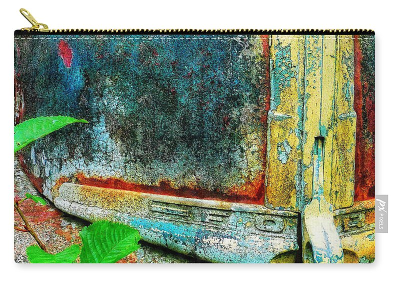 Old Carry-all Pouch featuring the painting Old Ford #1 by Sandy MacGowan