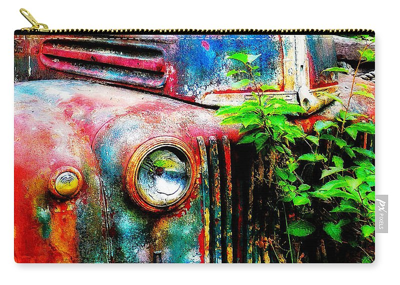 Old Carry-all Pouch featuring the painting Old Ford #2 by Sandy MacGowan