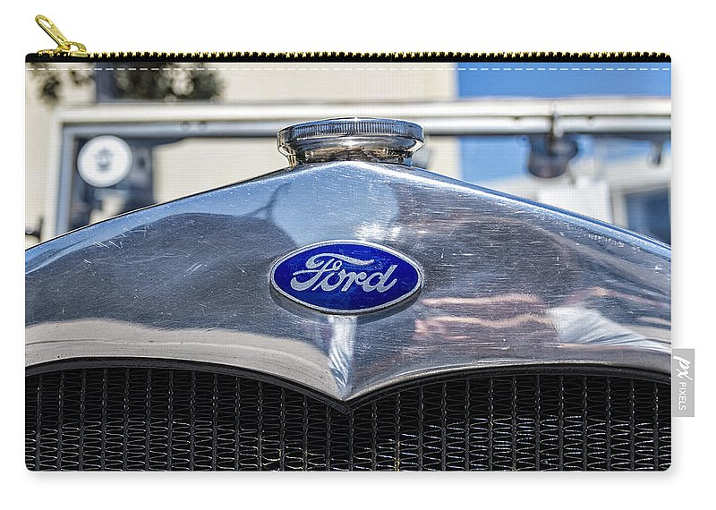 Ford Carry-all Pouch featuring the photograph Old Ford by Paulo Goncalves