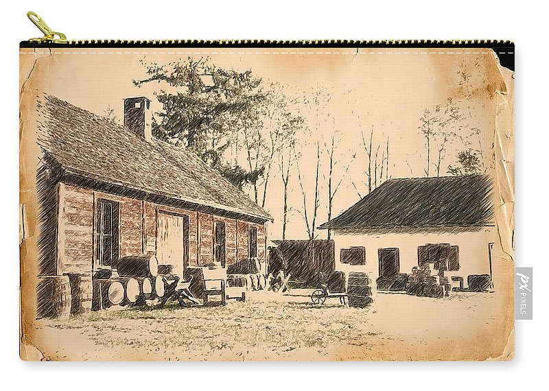 Fort Carry-all Pouch featuring the photograph Old Fort Langley 1 by Doug Matthews
