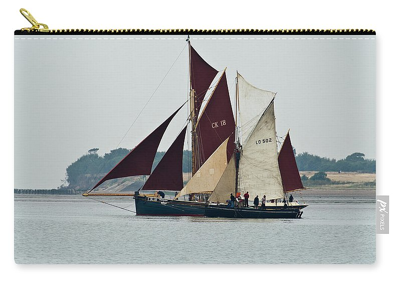East Coast Old Gaffers Association Carry-all Pouch featuring the photograph Old Gaffers Off Brightlingsea by Gary Eason