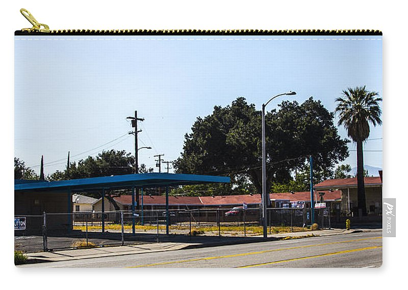 Route 66 Carry-all Pouch featuring the photograph Old Gas Station by Angus Hooper Iii