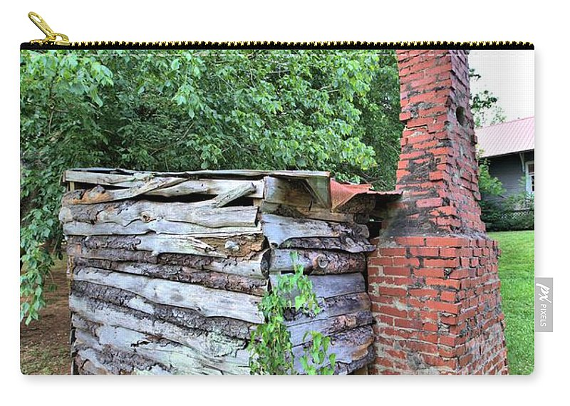 6095 Carry-all Pouch featuring the photograph Old Georgia Smokehouse by Gordon Elwell