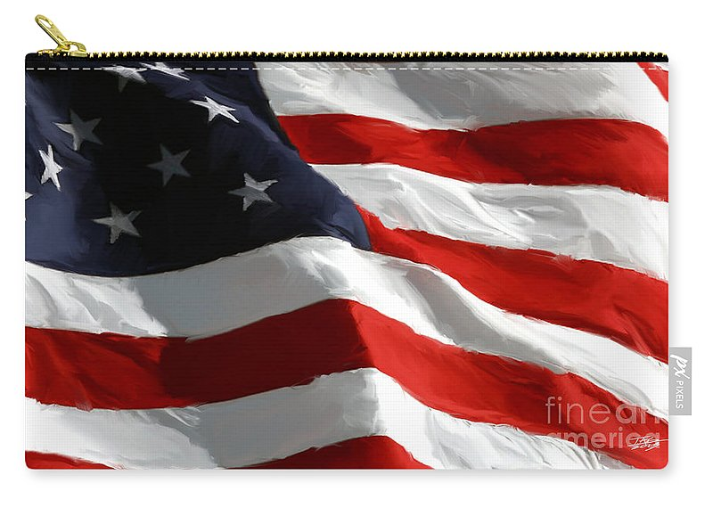 Flag Carry-all Pouch featuring the painting Old Glory by Paul Tagliamonte
