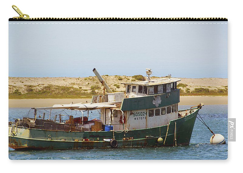 Barbara Snyder Carry-all Pouch featuring the photograph Old Green Scow Morro Bay Harbor by Barbara Snyder