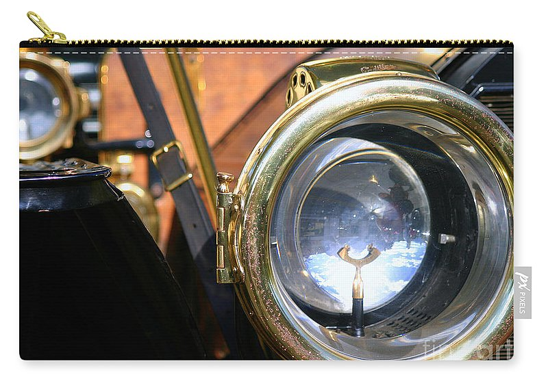 Old Carry-all Pouch featuring the photograph Old Headlights by Henrik Lehnerer
