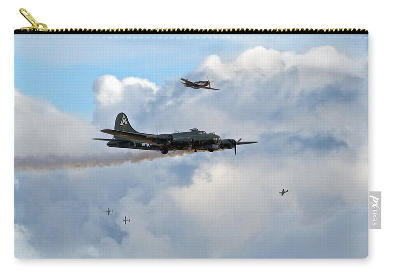 B-17 Carry-all Pouch featuring the photograph Old Hickory's Last Trip by Gary Eason