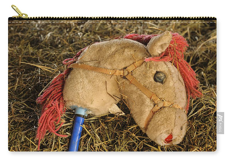 Toy Carry-all Pouch featuring the photograph Old Hobby Horse Head by David Kay