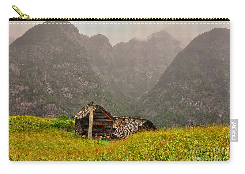 Houses Carry-all Pouch featuring the photograph Old Houses by Mats Silvan