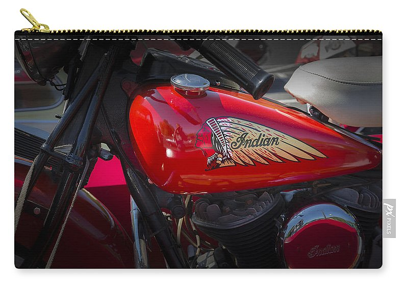 American Carry-all Pouch featuring the photograph Old Indian Cycle by Jack R Perry