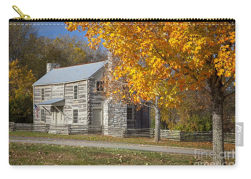 America Carry-all Pouch featuring the photograph Old Log House by Brian Jannsen